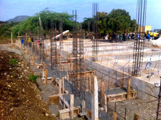 The new facility being built by The Hands And Feet Project in Ikondo, Haiti where the kitchen will be named in honor of my Dad. (photo source: The Hands And Feet Project's official Facebook page: https://www.facebook.com/hfproject )