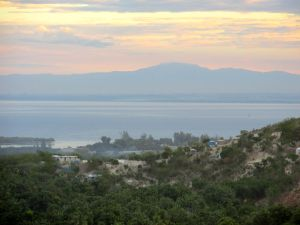 "The view of the ocean off the north coast of Haiti, just outside ""Grandpa Rockwell's Kitchen"""