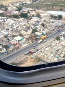 About to land in Port-Au-Prince