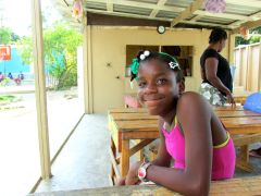 Kettia, one of the kids we sponsor through The Hands & Feet Project
