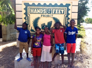 A few of the beautiful kids that live at the Grand Goave Children's Village of The Hands & Feet Project in Haiti