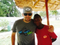 One of our sponsored children, Joel, during a 2015 visit to Haiti.