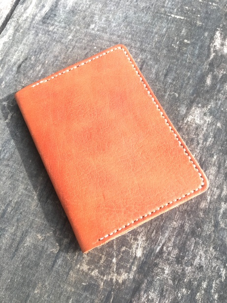 Cognac Fields Notes Wallet front
